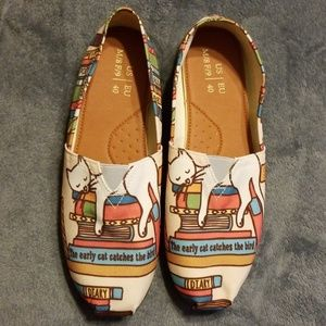 Shoes - Cute Canvas Cat Kitty Shoes